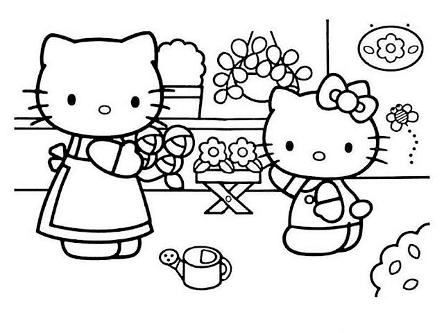 Gambar Mewarnai Hello Kitty - 3