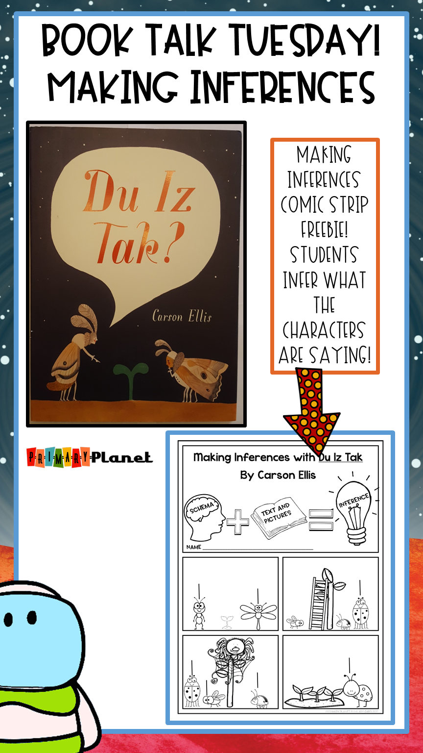 Making Inferences with Du Iz Tak by Carson Ellis with a comic book freebie!