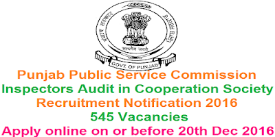 PPSC Cooperation Department Recruitment 2016