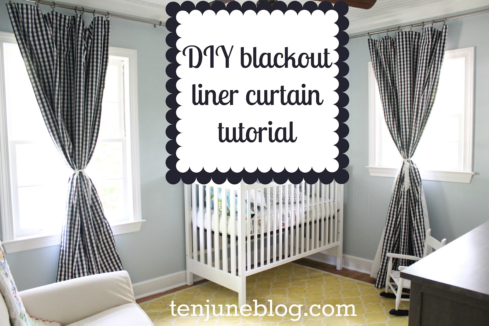 How To Make Curtain Lights Ten June Diy Blackout Curtain Tutorial How To Make Awesome