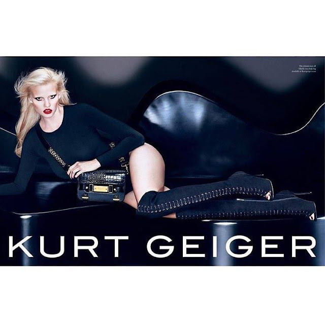 Kurt Geiger Fall/Winter 2015 Campaign featuring Lara Stone