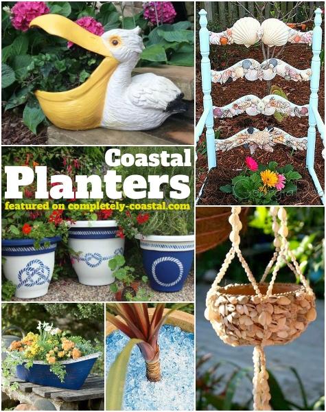 Coastal Planters Pots Garden