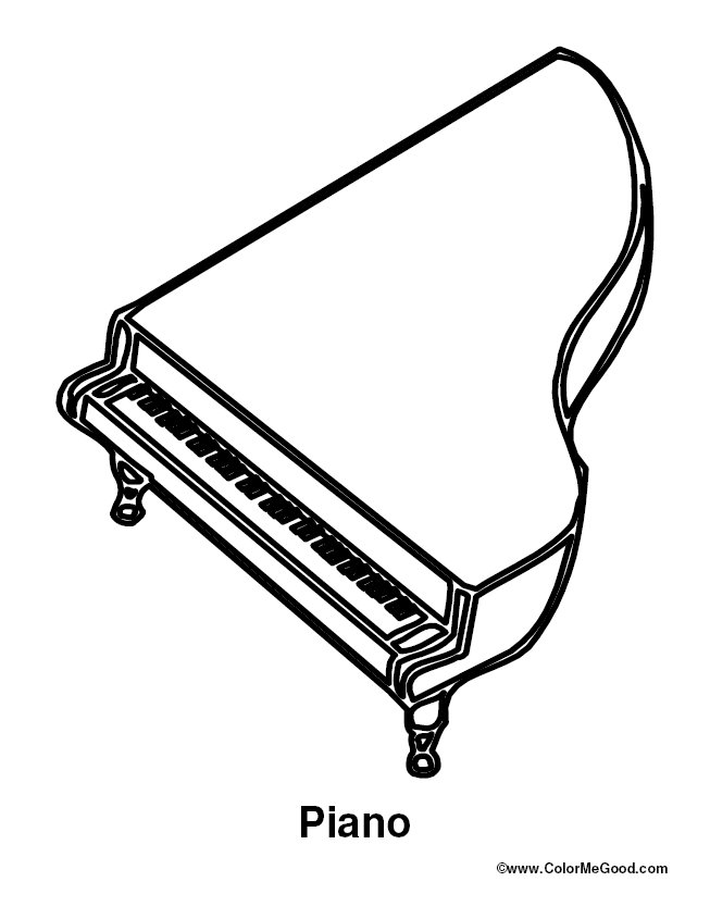 Coloring & Activity Pages: Piano Coloring Page
