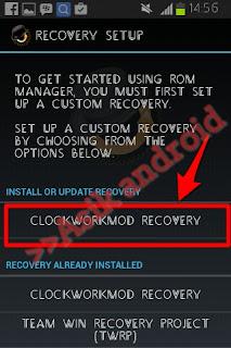 Cara install cwm recovery dengan rom manager