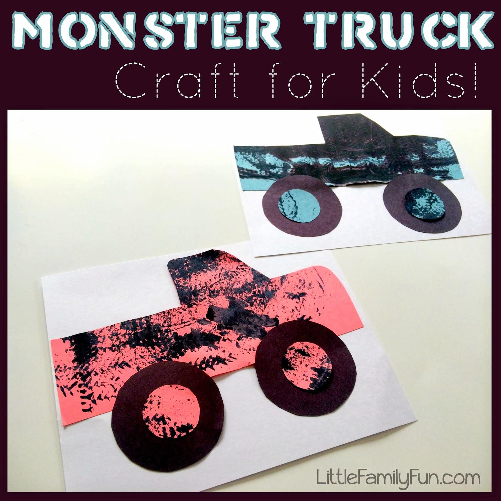 Monster truck craft for Car craft for kids
