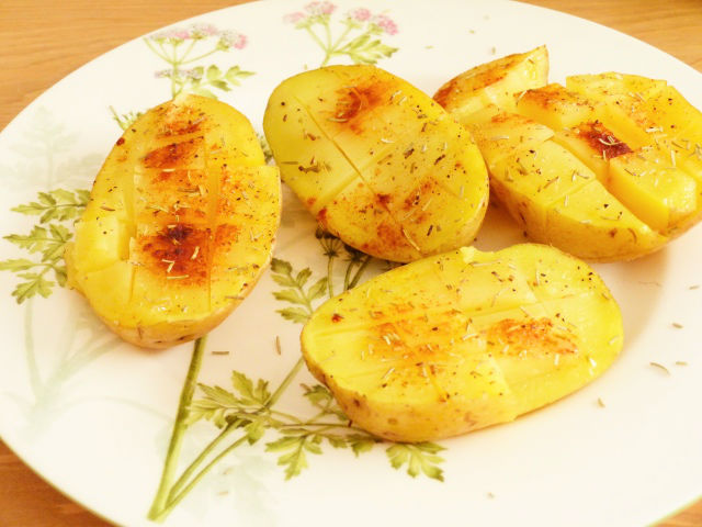 receta de patatas asadas al microondas
