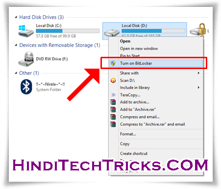 How-To-Lock-Files-And-Folder-of-Computer-In-Hindi