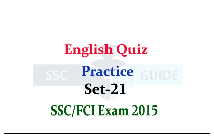 English Quiz - Correct Meaning for SSC/FCI Exam Practice Set