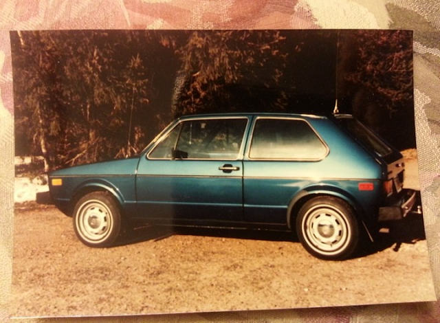 The car I learned to drive on - a 1979 VW Rabbit diesel
