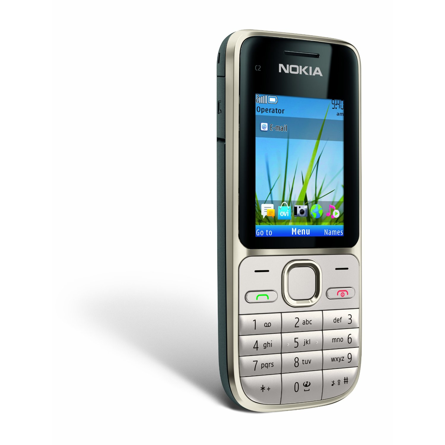 Nokia C2-01.5 Unlocked GSM Phone with 3.2 MP Camera and