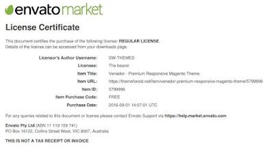 Themeforest Free License