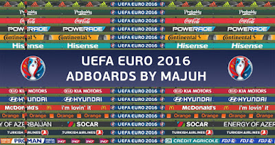 PES 2016 Adboard Pack v1.5 - UEFA Euro 2016 adboards - Final version by majuh
