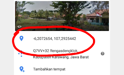 titik koordinat di google maps
