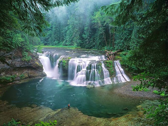 Lower Lewis River Falls - Gifford Pinchot National Forest - Washington, USA