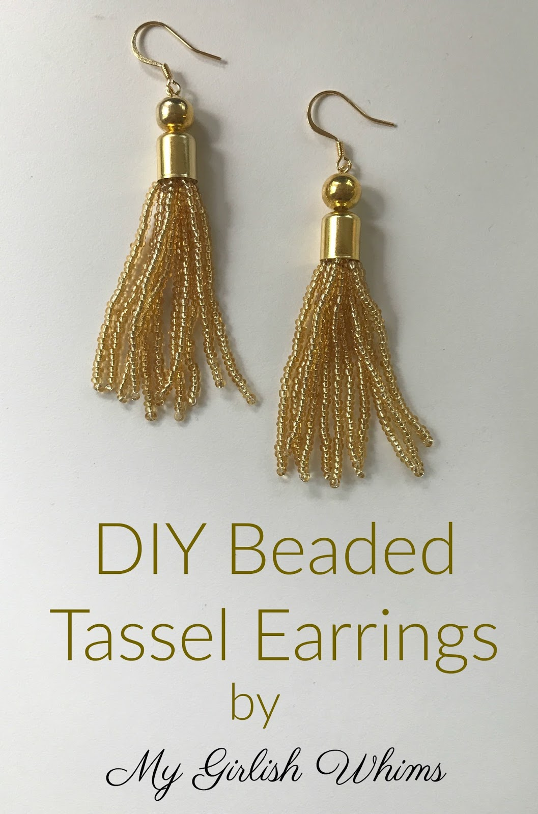 DIY Beaded Tassel Earrings - My Girlish Whims