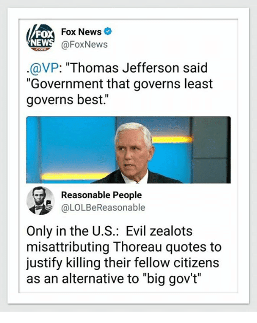 Mike Pence misquotes Thomas Jefferson to justify removing support for the most vulnerable Americans. Misattributing Thoreau and Other stories of Past Leaders Responding to Now. marchmatron.com