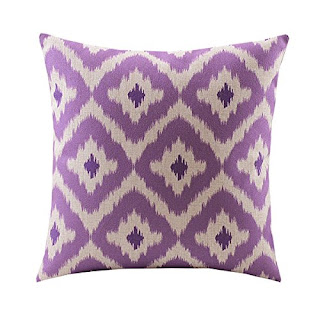 Retro purple pillow