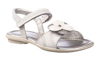 child's white two strap sandal