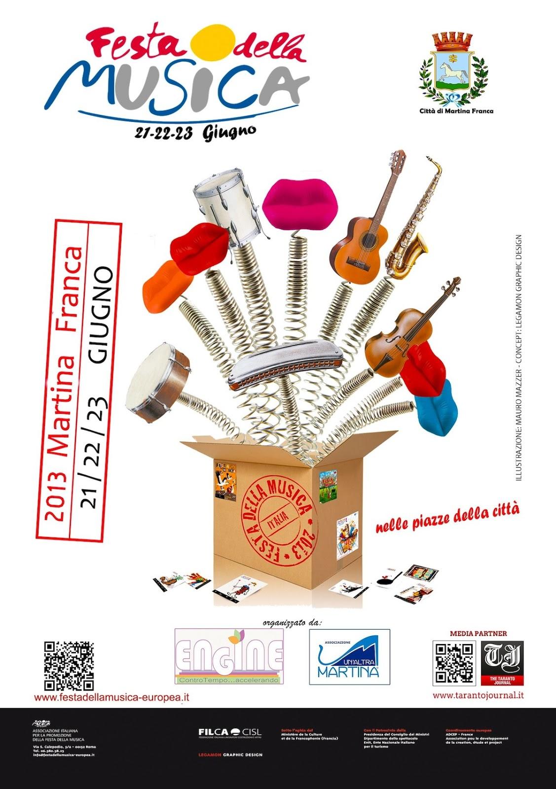 Calendario Eventi Martina Franca.Martina Franca Ta Arriva La Festa Della Musica Europea