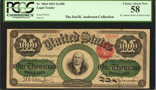 1863 $1000