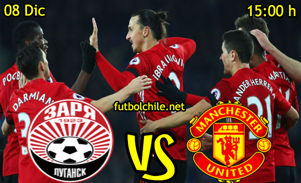 Ver stream hd youtube facebook movil android ios iphone table ipad windows mac linux resultado en vivo, online: Zorya Luhansk vs Manchester United,