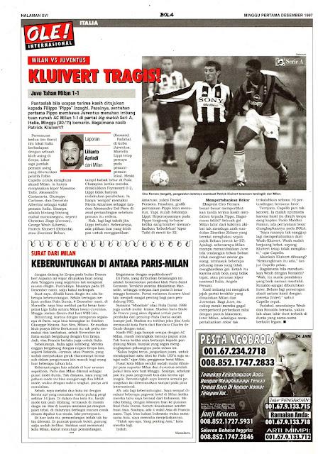 MILAN VS JUVENTUS KLUIVERT TRAGIS