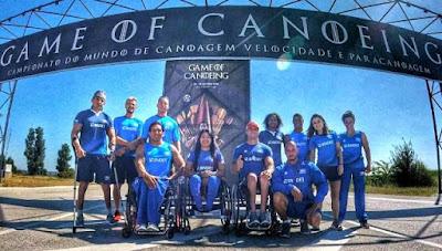 Atletas da paracanoagem treinados por professor da Escola Náutica, entre os melhores do mundo