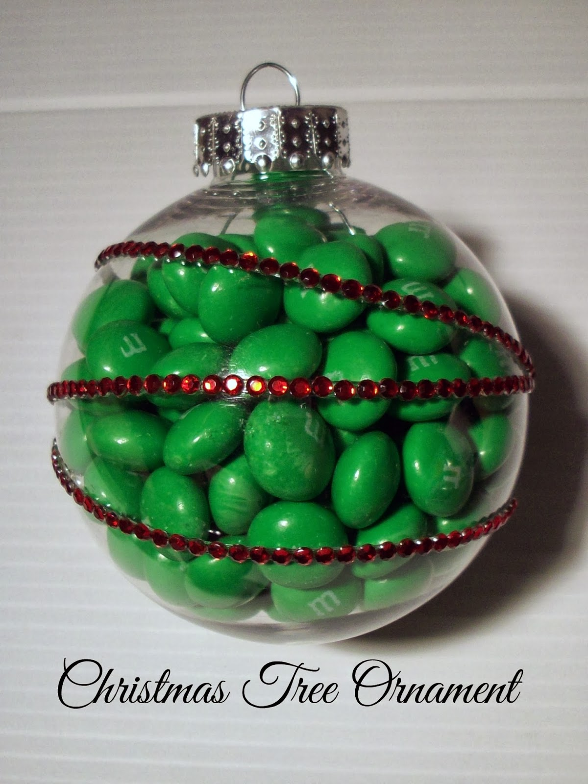 Christmas Ornament Craft with M&M's - Food Crafts and Family
