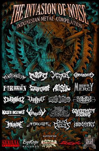 """PREPARE Indonesian Metal Compilation """" THE INVASION OF NOISE """" Brutal Indonesian Metal CD"""