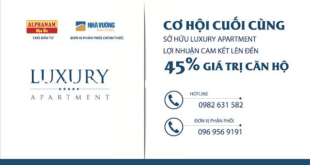 Cơ hội cuối cùng sở hữu căn hộ Luxury Apartment