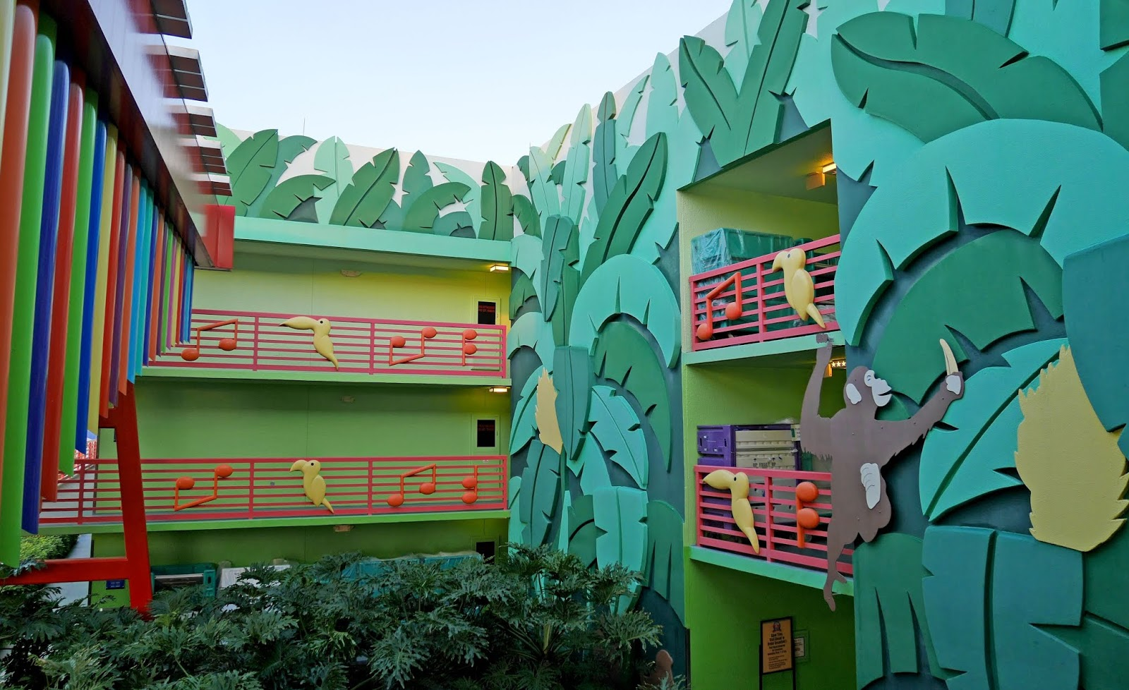 Calypso building at Disney's All-Star Music resort