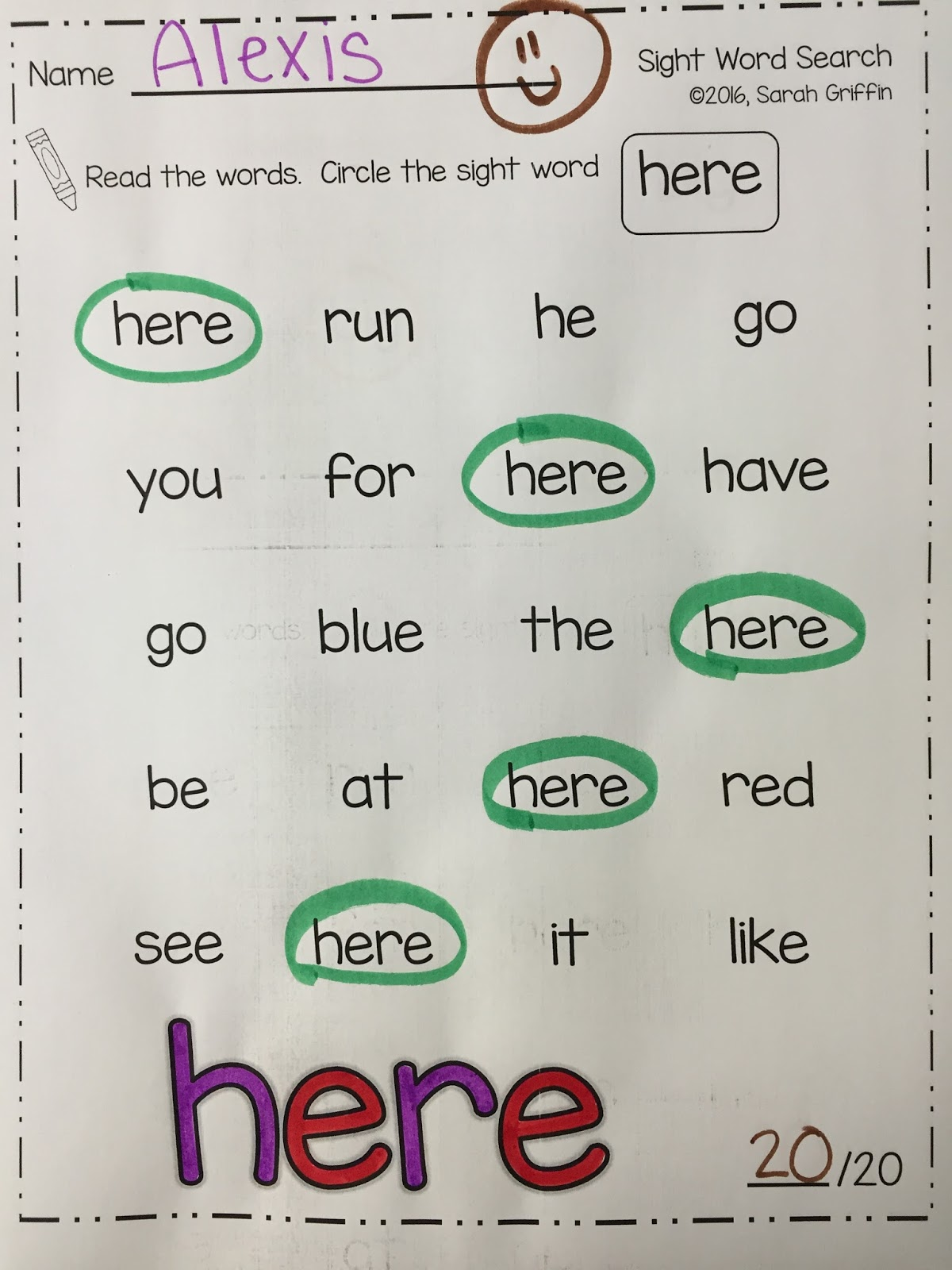 Daughters And Kindergarten Sight Word Search