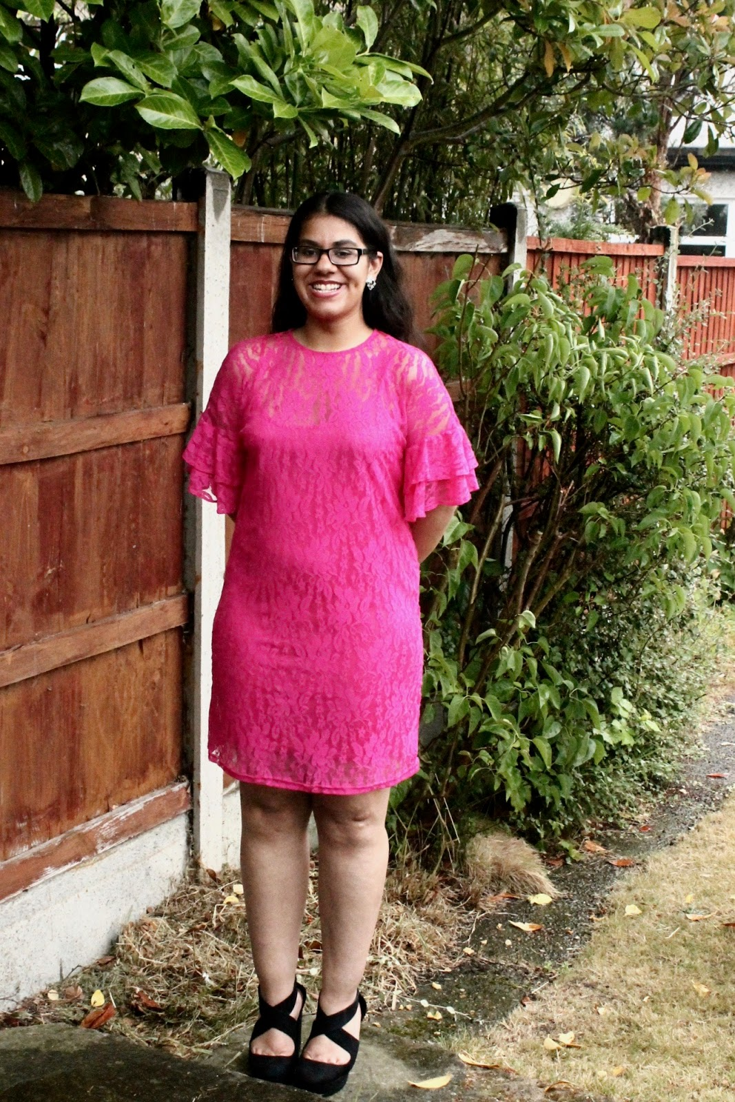 Body Confidence In Pink Slip Lace Dress