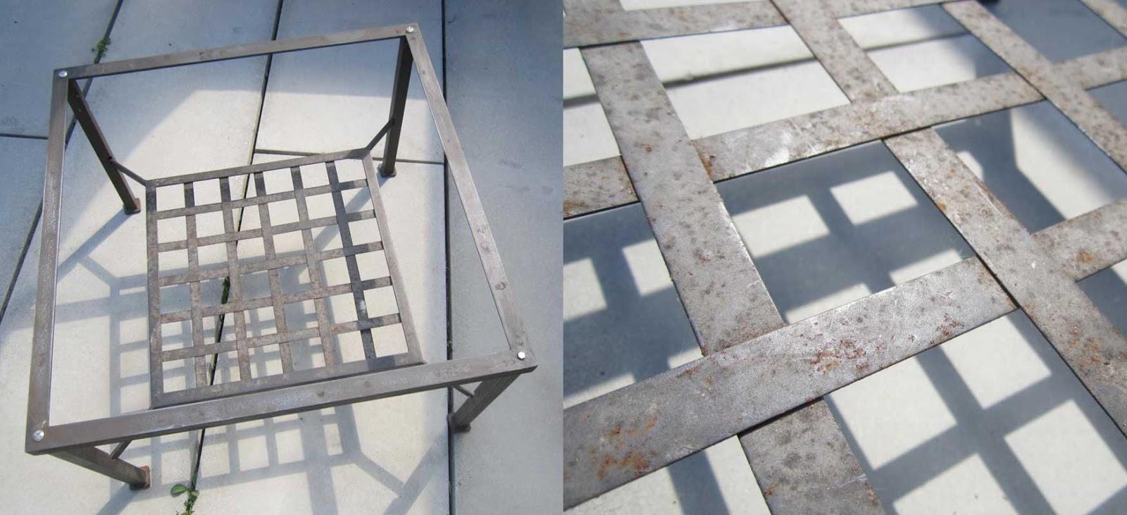 Restauration d 39 une table en m tal au 303 home deco - Restauration d une table en bois ...