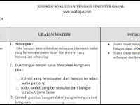 Kisi Kisi UTS Matematika Kelas 9 Semester 1/ Ganjil