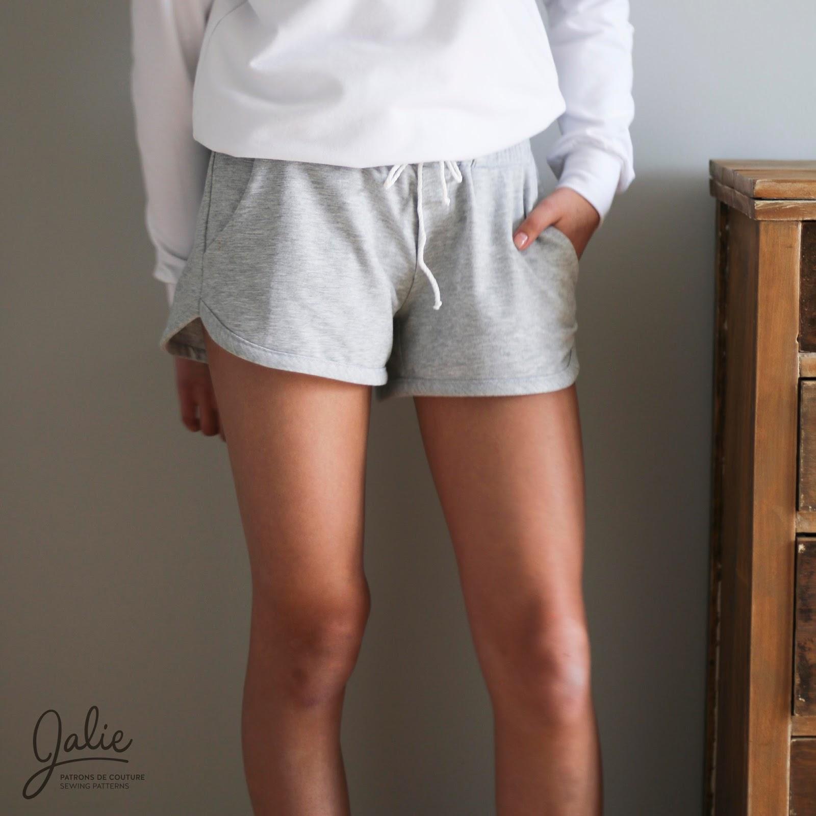 ac5969532f5f Vanessa Jogger Shorts // Pattern Hack (Jalie 3676)