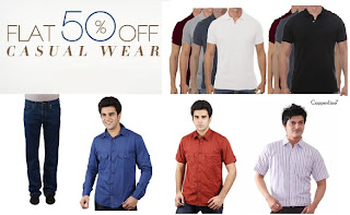 [Hurry!!] Snapdeal Offer: Flat 50% OFF on Men's Casual Wear