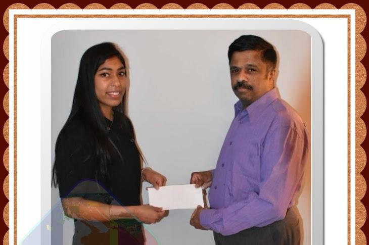 Premier fois, notre association a reçu 2000€ par la Ste AMPLEGEST. Grâce à Mme RANJAN Sriraji (fille de M. RANJAN et Mme KADAMPAMALAR travaille à cette entreprise), cette Société nous a donné  cette somme..!