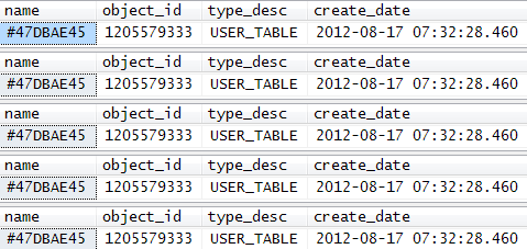 Cached table variable