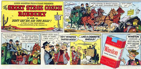 Winston advertisement 1957 - comic strip - A