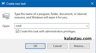 kalautau.com - CMD dengan menggunakan Run as Administrator