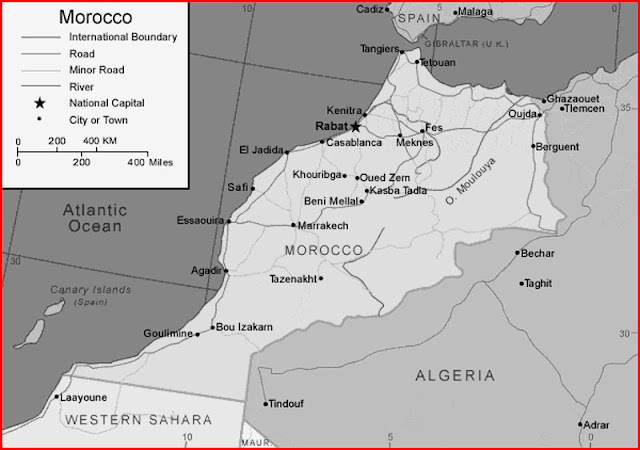 image:Black and white Morocco map