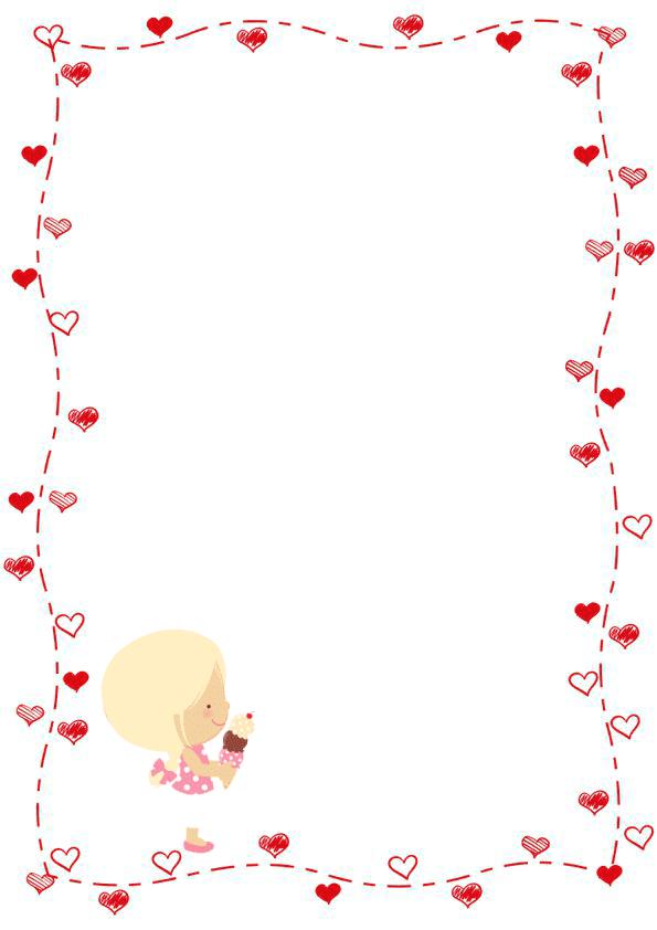 Caratulas de cuadernos para niños y  niñas de inicial de corazones