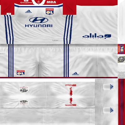 PES 6 Kits Olympique Lyon Season 2018/2019 by FacaA/Ngel
