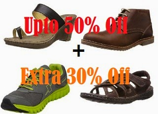Great Offer on Branded Footwear: Upto 50% off + Additional 30% off @ Amazon