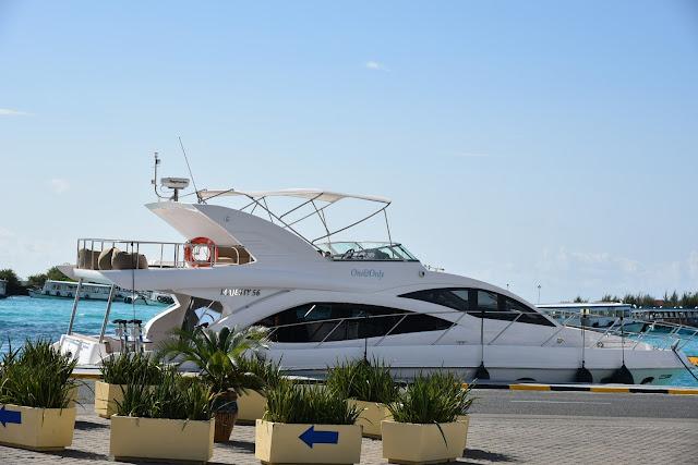 Maldives speed boat