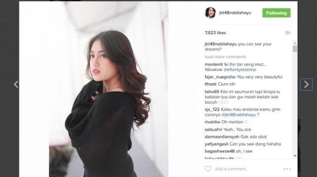 Foto Nabilah JKT48 Yang Bikin Netizen Jadi Gagal Fokus