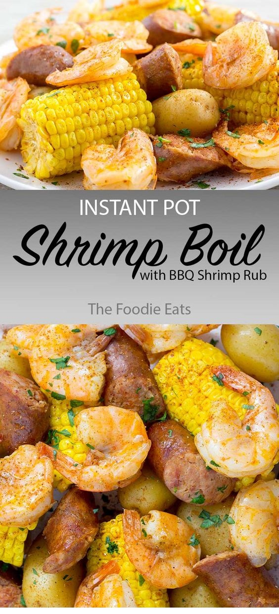 Instant Pot Shrimp Boil With BBQ Shrimp Rub