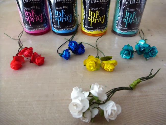 How to Color White Roses with Dylusions Ink Spray by Dana Tatar