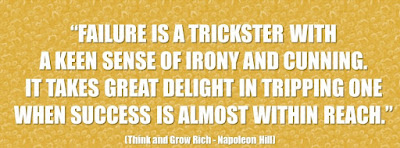 """30 major causes and reasons of failure in """"Think And Grow Rich"""""""